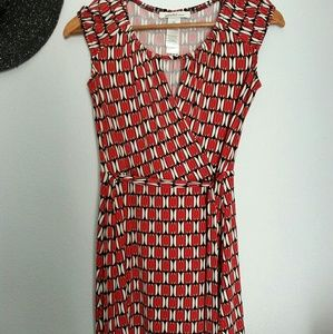 Laundry by design red and white sleeveless dress